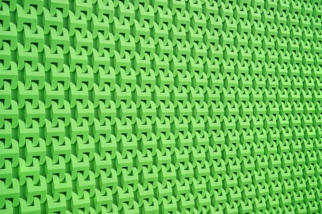 Prospettiva decrescente verde vivida del modello di superficie della parete 3d per sfondo e banner