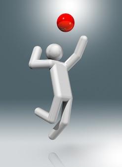 Simbolo 3d di pallavolo, sport olimpici