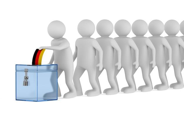 Votazione in germania sullo spazio bianco