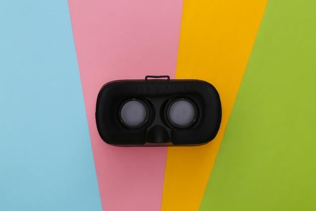 Cuffie per realtà virtuale. realta virtuale. lay piatto