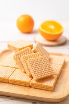 Wafer con aroma di crema all'arancia