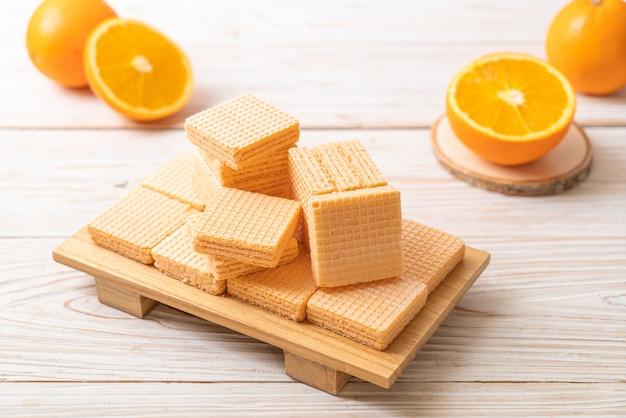 Wafer con crema all'arancia