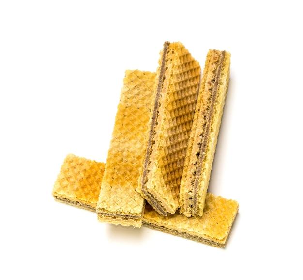 Wafer con dettagli isolati di cioccolato