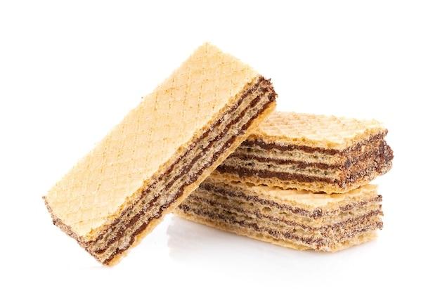 Wafer con cioccolato isolato