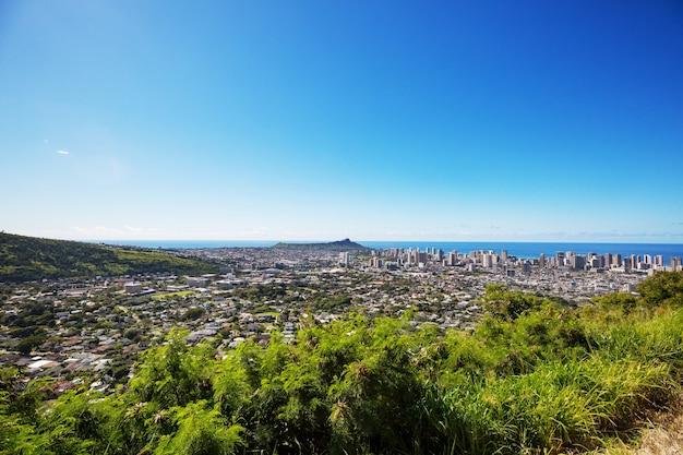 Spiaggia di waiikiki a honolulu, hawaii