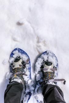 Camminando con gli snowhoes