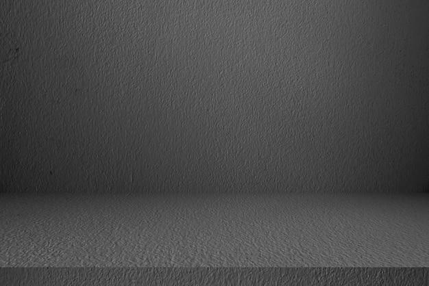 Muro e pavimento in cemento, stanza, interno, per prodotti da esposizione