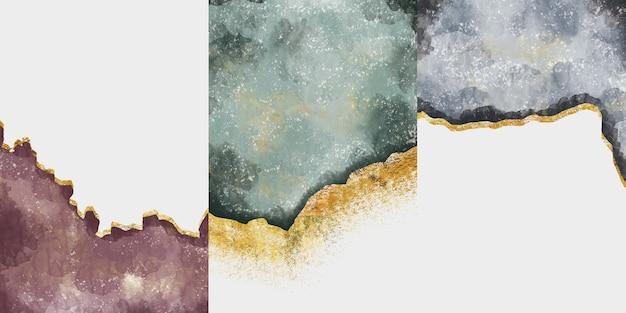 Cornici da parete geode in resina e arte astratta arte funzionale come la pittura geode ad acquerello