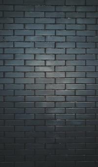 Muro fatto di mattoni neri