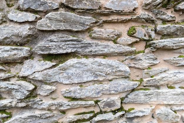 Muro di pietra da vicino per l'utilizzo come sfondo
