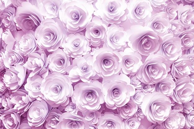 Parete con uno sfondo di fiori di carta astrazione creativa artigianale fatta a mano