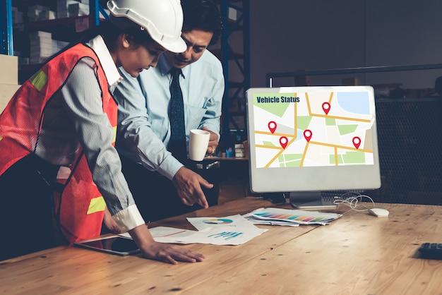 Applicazione software di gestione del magazzino nel computer per il monitoraggio in tempo reale