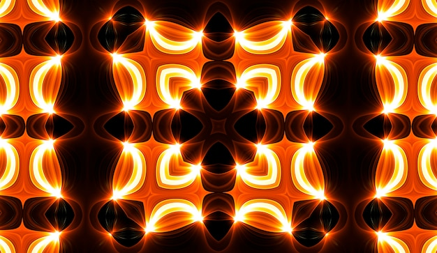 Caleidoscopio giallo caldo. stampa tie dye autunnale a spirale. trama caleidoscopica. abito gitano. colori caldi mix di colori design. design in tessuto indonesiano dai colori caldi. design colorato con turbinio di hippy luminosi