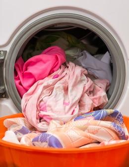 Lavare i panni in lavanderia
