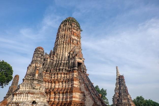 Wat chaiwatthanaram è un parco storico di ayutthaya., thailandia.