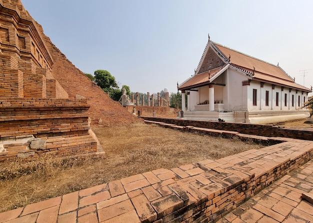 Wat mahatat tempio chainat district thailandia nel 1901 e ha registrato tutti gli spettacolari antichi