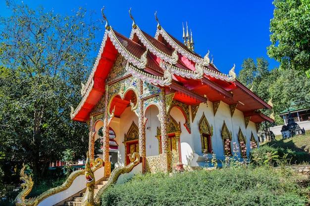 Tempio di wat muay tor, mae hong son, tailandia