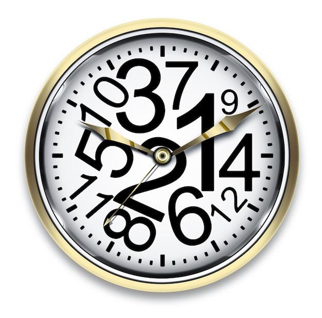 Orologio con numeri caotici - design del concetto di tempo