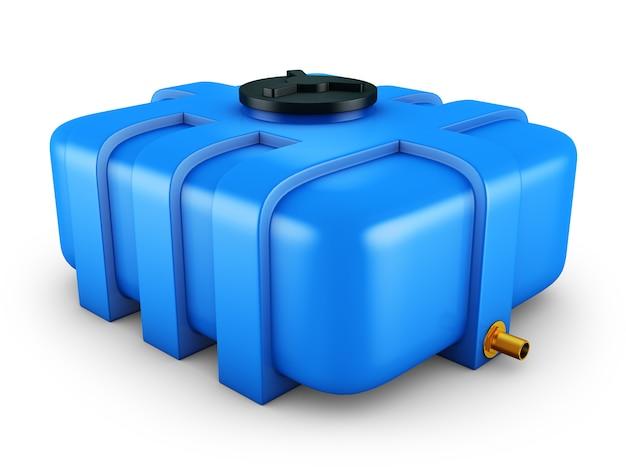 Il serbatoio dell'acqua è blu