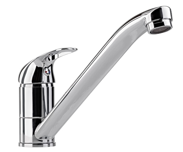 Il rubinetto dell'acqua, il rubinetto per il bagno e il miscelatore della cucina