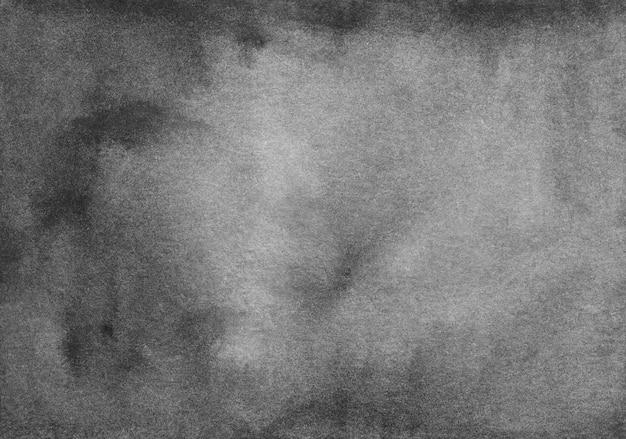 Trama di sfondo nero e grigio dell'acquerello