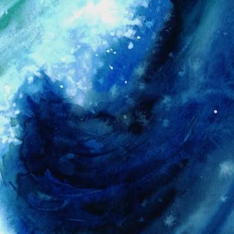 Fondo del mare blu dell'acquerello con spazio per testo