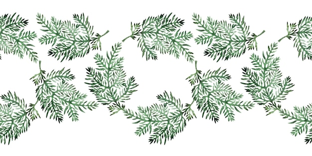 Bordi dell'acquerello con pianta di assenzio stilizzato