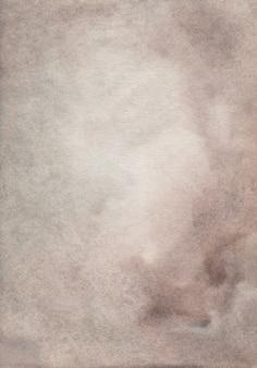 Acquerello calma sfondo marrone e grigio dipinto.