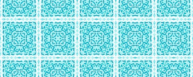 Priorità bassa geometrica delle mattonelle di ceramica dell'acquerello. modello senza cuciture blu.