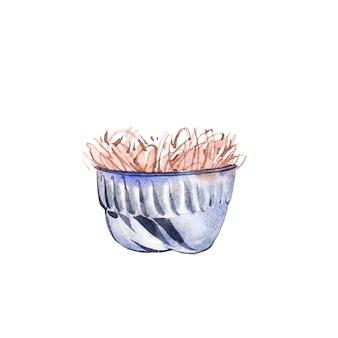 Coppa dell'acquerello. illustrazione dell'acquerello di tiraggio della mano.
