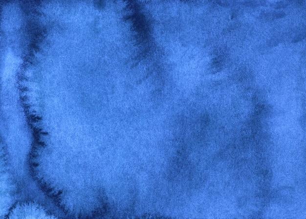 Acquerello blu profondo sfondo texture dipinte a mano. sfondo astratto blu azzurro aquarelle.