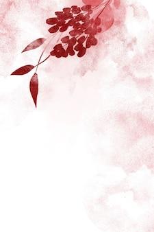 Sfondo floreale acquerello per inviti