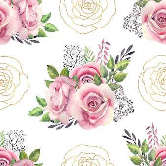 Disegno floreale dell'acquerello