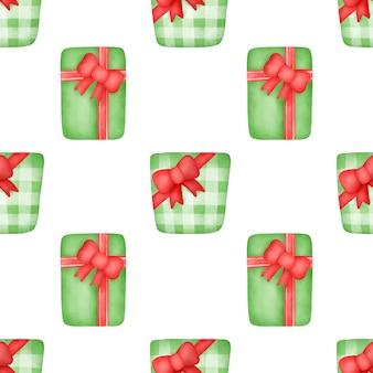 Reticoli senza giunte di scatole regalo dell'acquerello.