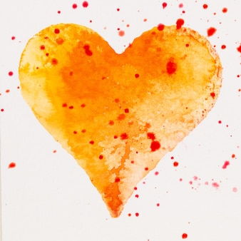 Cuore dell'acquerello. carta di san valentino greating, amore, relazione, arte, pittura.