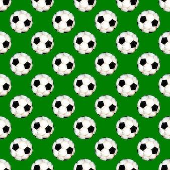 Illustrazione ad acquerello di un modello di pallone da calcio simbolo sportivo calcio ripetuto senza soluzione di continuità