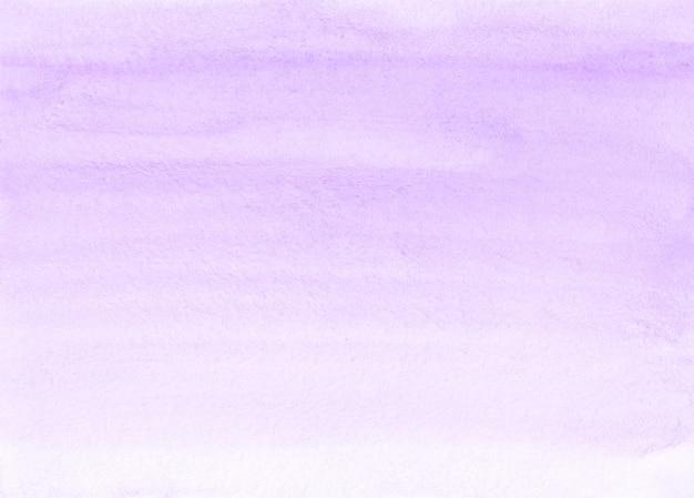 Acquerello lavanda e texture di sfondo bianco. sullo sfondo di tratti di pennello viola pastello aquarelle. modello orizzontale.