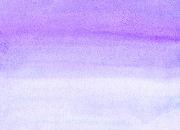 Acquerello lavanda e texture di sfondo bianco. sfondo di pennellate viola aquarelle. modello orizzontale.