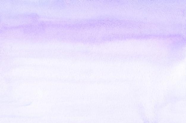 Acquerello lavanda e texture di sfondo sfumato bianco. sullo sfondo di tratti di pennello viola pastello aquarelle. modello orizzontale.
