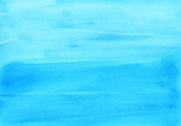 Acquerello sfondo azzurro trama dipinta a mano. sfondo astratto turchese brillante aquarelle. pennellate su carta.