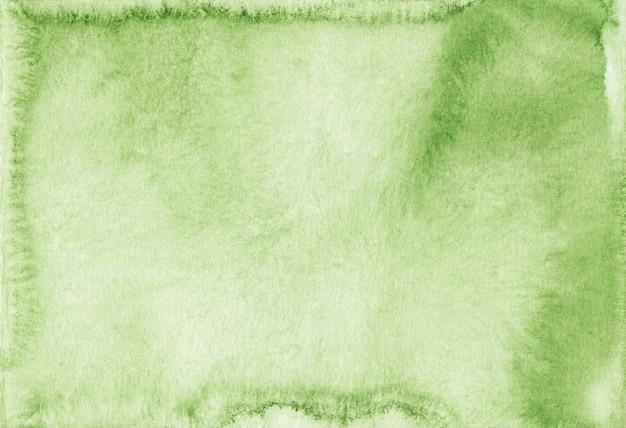 Trama di sfondo verde chiaro dell'acquerello. sfondo di colore verde primavera aquarelle. vecchia sovrapposizione dell'acquerello.