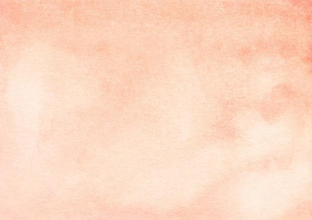 Trama di sfondo sfumato arancione chiaro dell'acquerello