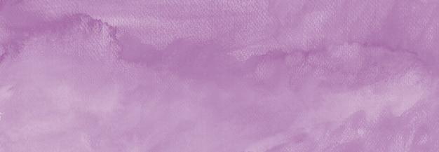 Acquerello lilla viola colori pastello macchia di vernice disegnata a mano con texture di carta sfondo astratto