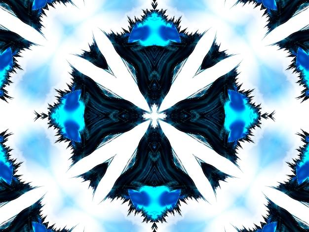 Acquerello neon ciano blu profondo inchiostro nero quadrato naturale motivo di qualità fotografica