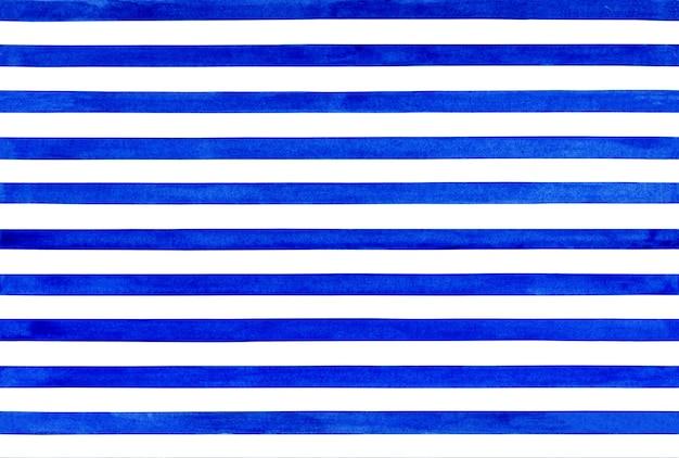 Modello senza cuciture a strisce blu dipinto ad acquerello elegante sfondo a strisce