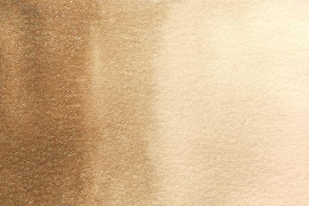 Dipinto ad acquerello su tela con morbida sfumatura bronzo