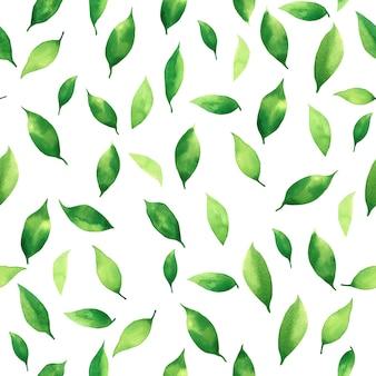 La pittura ad acquerello foglie tropicali colorate seamless pattern