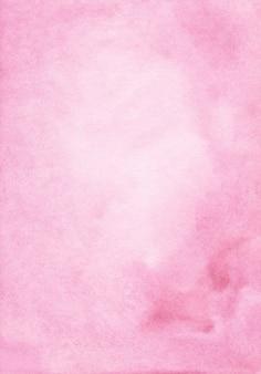 Fondo rosa pastello dell'acquerello dipinto a mano. macchie rosa chiaro aquarelle su carta.