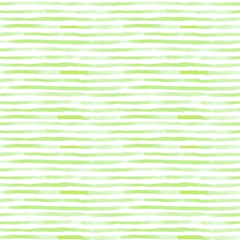 Un motivo a strisce acquerello senza cuciture in colore verde