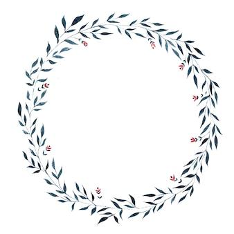 Corona vegetativa dell'acquerello, forma un cerchio